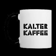 Tassen & Zubehör ~ Tasse zweifarbig ~ kalter kaffee