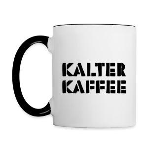 kalter kaffee - Tasse zweifarbig