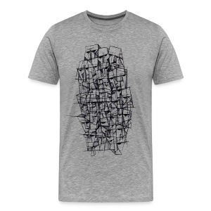 Male t-shirt, Headz designed by Samy Lalmi - Men's Premium T-Shirt