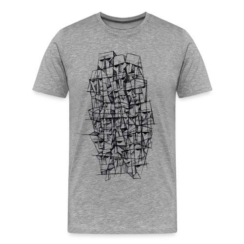 Male t-shirt, Headz designed by Samy Lalmi - Men's Premium T-Shirt