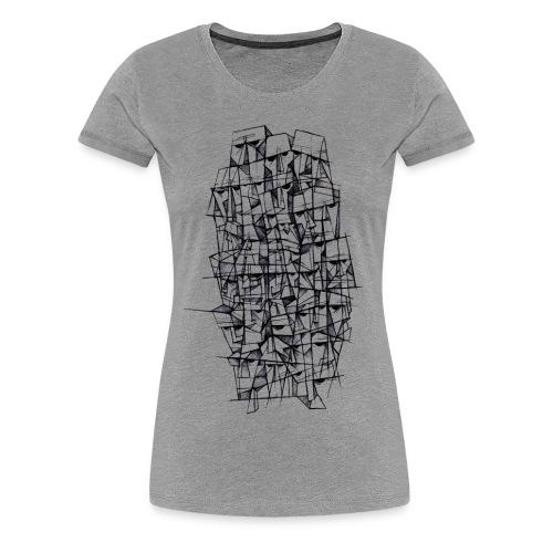 Female t-shirt, Headz designed by Samy Lalmi - Women's Premium T-Shirt