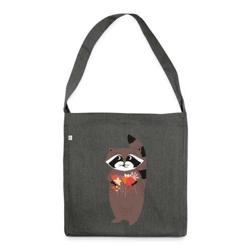 Racoon - Schultertasche aus Recycling-Material