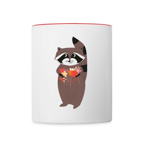 Racoon - Tasse zweifarbig