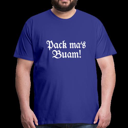 Pack ma's Buam T-Shirt (Blau/Weiß) - Männer Premium T-Shirt