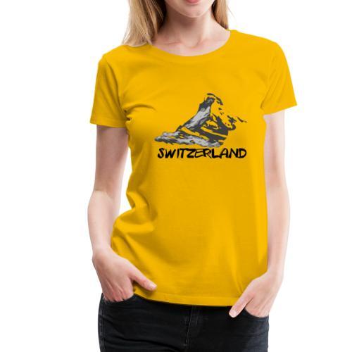 Switzerland & Matterhorn - T-shirt Premium Femme