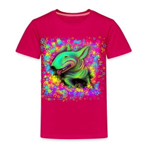 Colour Splash Bull Terrier Kids Premium T-shirt - Kids' Premium T-Shirt