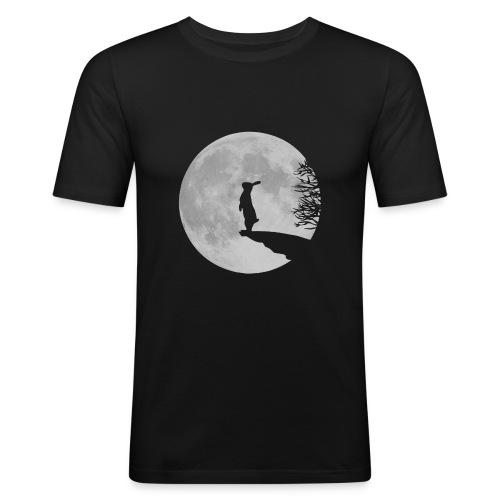 FuckedUpSpaceBunny Slim Fit T-shirt (Men) - Men's Slim Fit T-Shirt