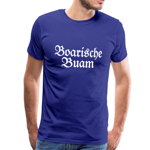 Boarische Buam T-Shirt (Blau/Weiß) - Männer Premium T-Shirt