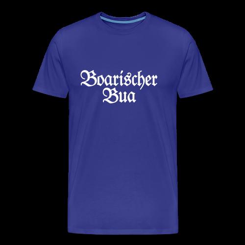 Boarischer Bua T-Shirt (Blau/Weiß) - Männer Premium T-Shirt