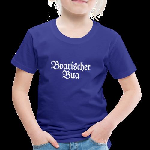 Boarischer Bua Kinder T-Shirt (Blau/Weiß) - Kinder Premium T-Shirt