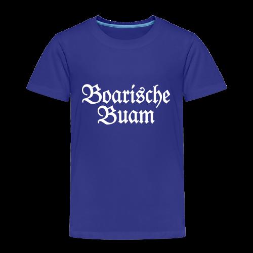 Boarische Buam Kinder T-Shirt (Blau/Weiß) - Kinder Premium T-Shirt