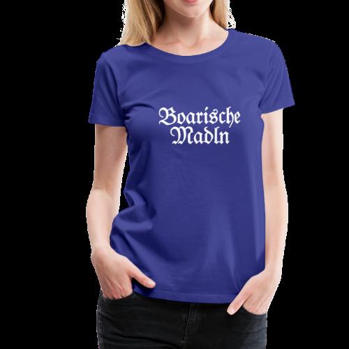 Boarische Madln T-Shirt (Blau/Weiß) - Frauen Premium T-Shirt