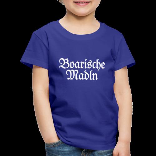 Boarische Madln Kinder T-Shirt (Blau/Weiß) - Kinder Premium T-Shirt