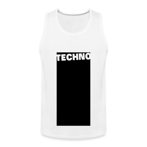Tanktop Techno White/Black (Men) - Men's Premium Tank Top