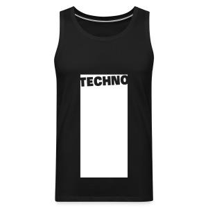 Tanktop Techno Black/White (Men) - Men's Premium Tank Top