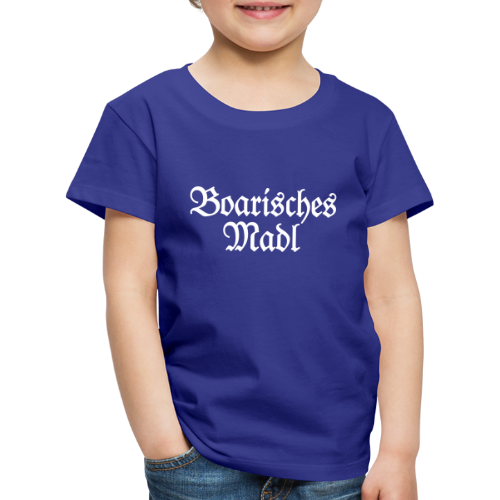 Boarisches Madl Kinder T-Shirt (Blau/Weiß) - Kinder Premium T-Shirt