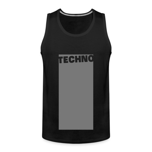Tanktop Techno Black/Grey  (Men) - Men's Premium Tank Top