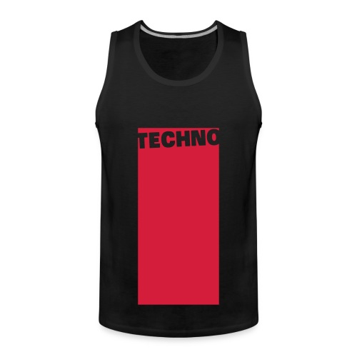 Tanktop Techno Back/Red (Men) - Men's Premium Tank Top