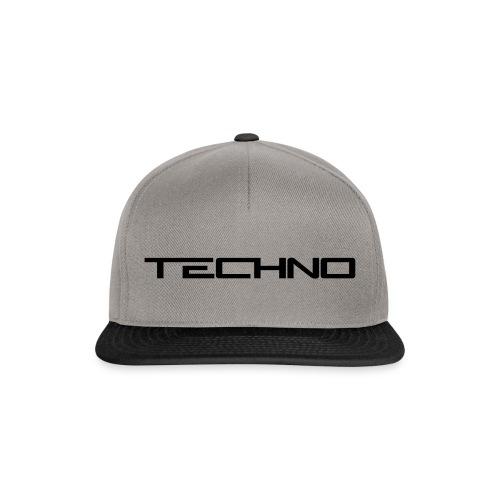 Snapback Techno Grey/Black - Snapback Cap