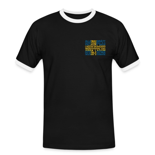 Sverigetröjan Framåbaktryck - Kontrast-T-shirt herr