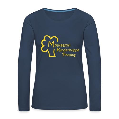 Shirt Logo vorn - Frauen Premium Langarmshirt
