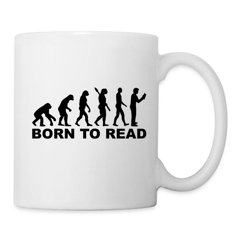 Tassen Lesen : Evolution lesen tasse spreadshirt