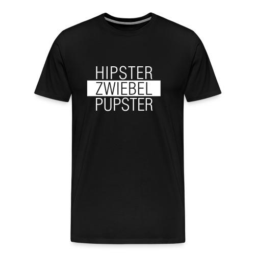 Hipster Zwiebel Pupster - Männer Premium T-Shirt