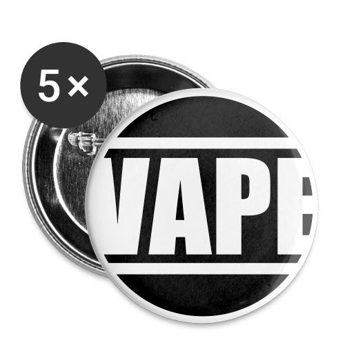 Vape - Lot de 5 petits badges (25 mm)