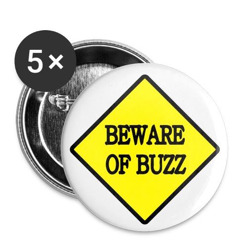 Beware of buzz - Lot de 5 petits badges (25 mm)