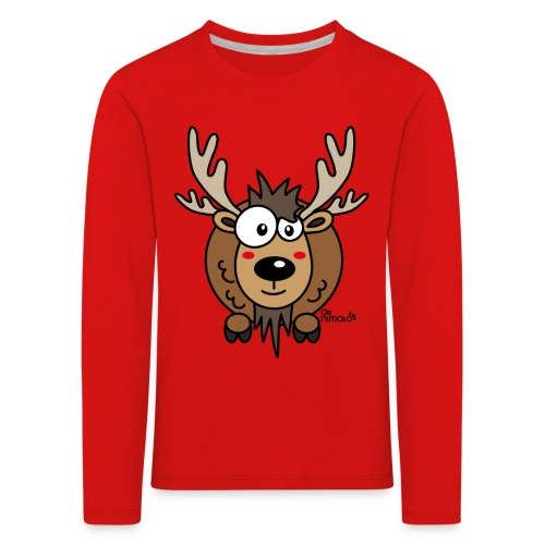 T-shirt ml P Enfant, Caribou, Renne, Noël - T-shirt manches longues Premium Enfant