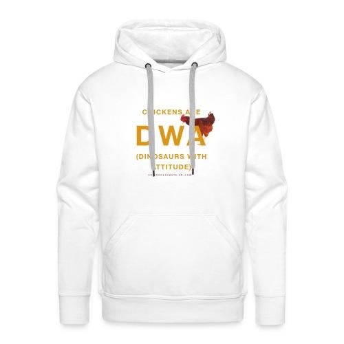 DINOSAURS WITH ATTITUDE chicken hoodie (men) - Men's Premium Hoodie