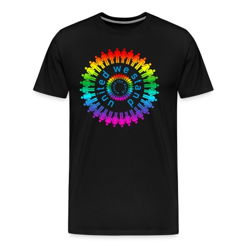 united we stand around the world color - Männer Premium T-Shirt