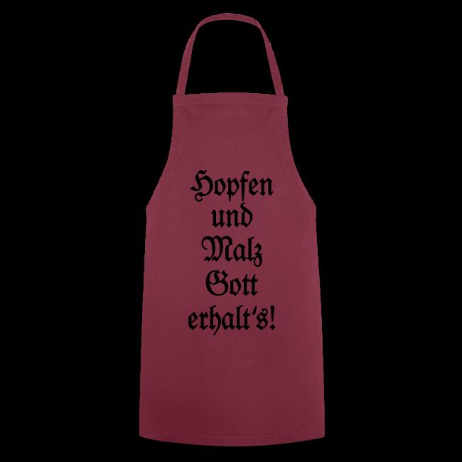Hopfen und Malz Schürze für Biertrinker (Weiß)