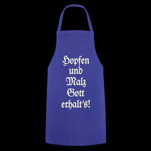 Hopfen und Malz Schürze für Biertrinker (Blau) - Kochschürze
