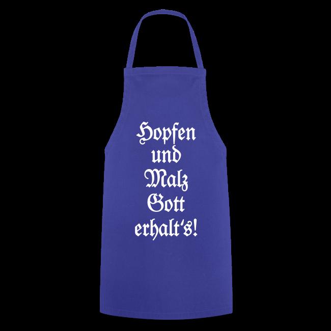 Hopfen und Malz Schürze für Biertrinker (Blau)