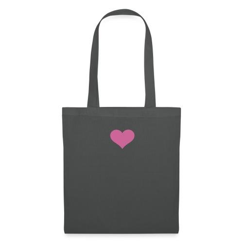 Small Pink Glitter Heart Tote Bag - Tote Bag