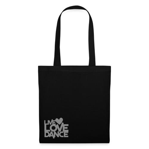 Silver Glitter Live Love Dance Tote Bag - Tote Bag