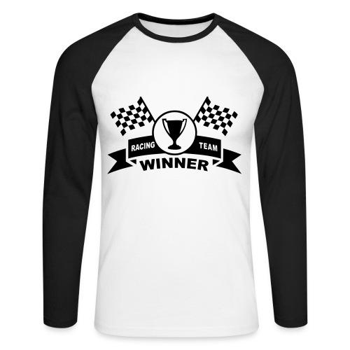 Winner racing team - Men's Long Sleeve Baseball T-Shirt