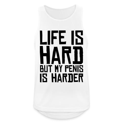 Life is Hard But.... - Mannen tanktop ademend