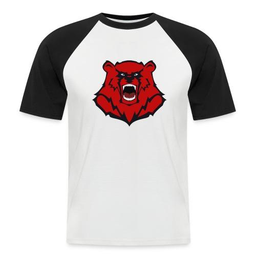 HARD KNOCKS Männer T-Shirt 2 Farbig Motiv Bär - Männer Baseball-T-Shirt