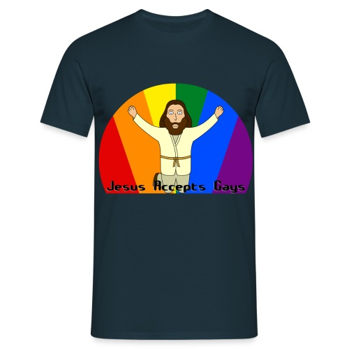 Jesus Accepts Gays - Men's T-Shirt