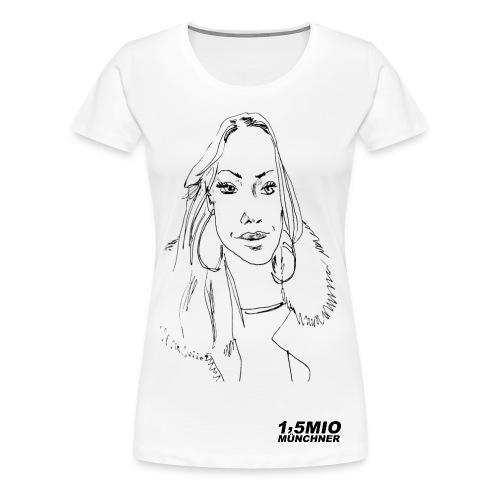 Dein Portrait auf einem Shirt!   - Frauen Premium T-Shirt