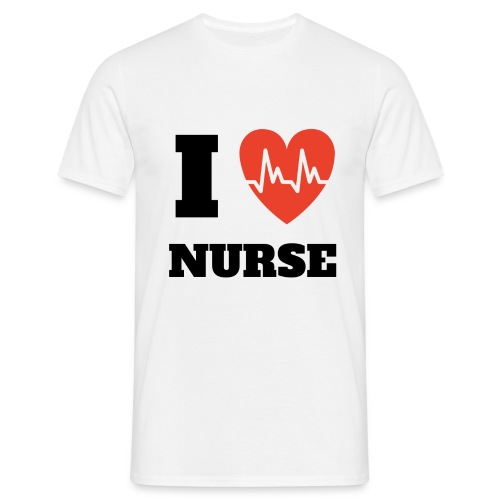 T-Shirt I Love Nurse Homme - T-shirt Homme