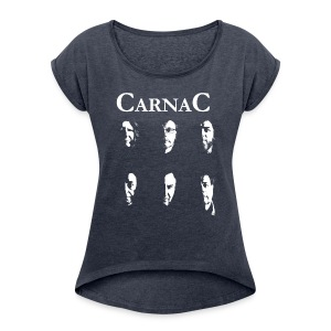 CarnaC Women's T-shirt with rolled up sleeves - Women's T-shirt with rolled up sleeves