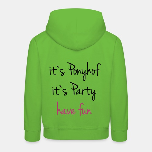 It`s Ponyhof Kinder Kapuzenpullover - Kinder Premium Hoodie