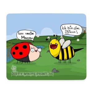 Mousepad Biene und Marvin - Mousepad (Querformat)