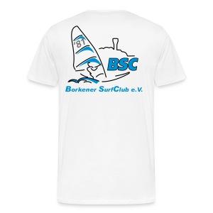 BSC Männer T-Shirt (Weiss) - Männer Premium T-Shirt