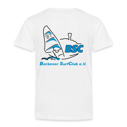 BSC Kinder T-Shirt (Weiss) - Kinder Premium T-Shirt