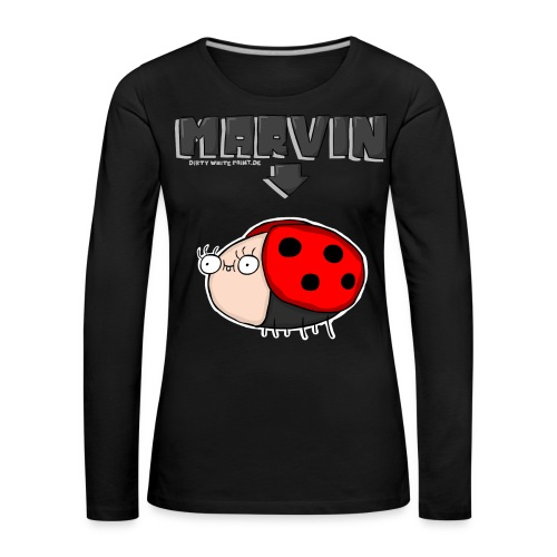 MARVIN-Pulli - Girls - Frauen Premium Langarmshirt