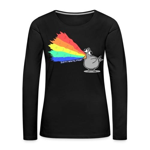 Zaubertaube-Pulli - Girls - Frauen Premium Langarmshirt